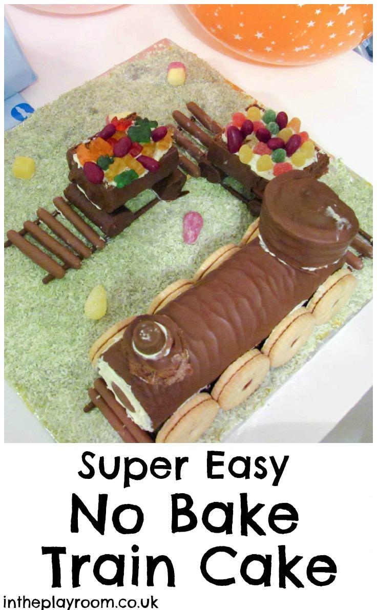 Train Birthday Cake Swiss Roll