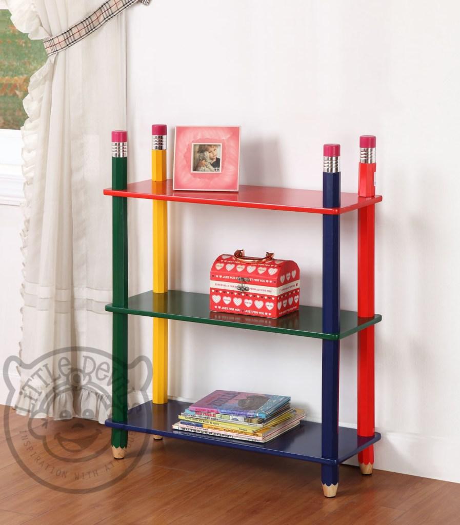 playroom furniture - pencil bookcase