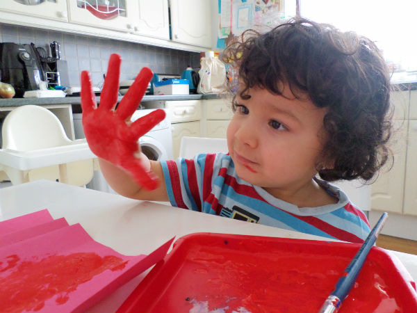 hand print painting