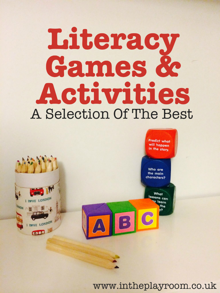 literacy games and literacy activities to help children's reading, writing and learning letters