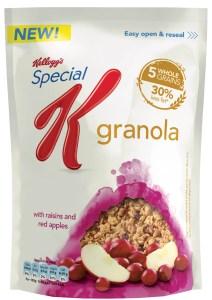 Special K Granola with Raisins and Red Apples