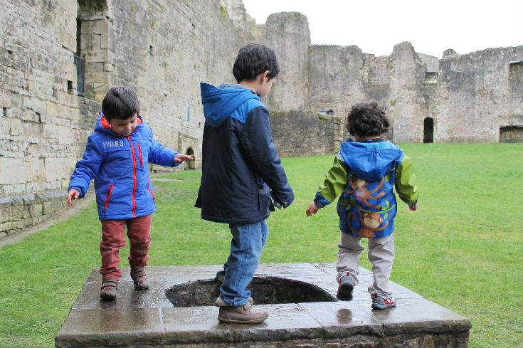 brothers fun at chepstow castle