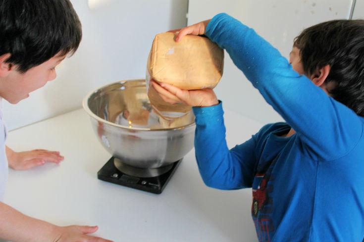 making pancakes for pancake day