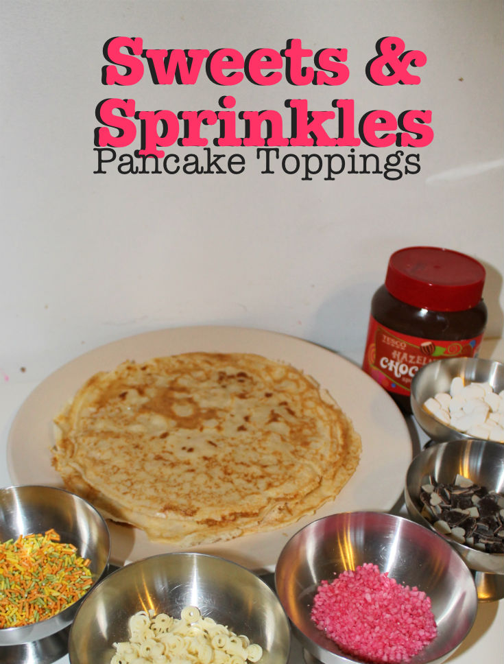 sweet and sprinkles pancake toppings for pancake day