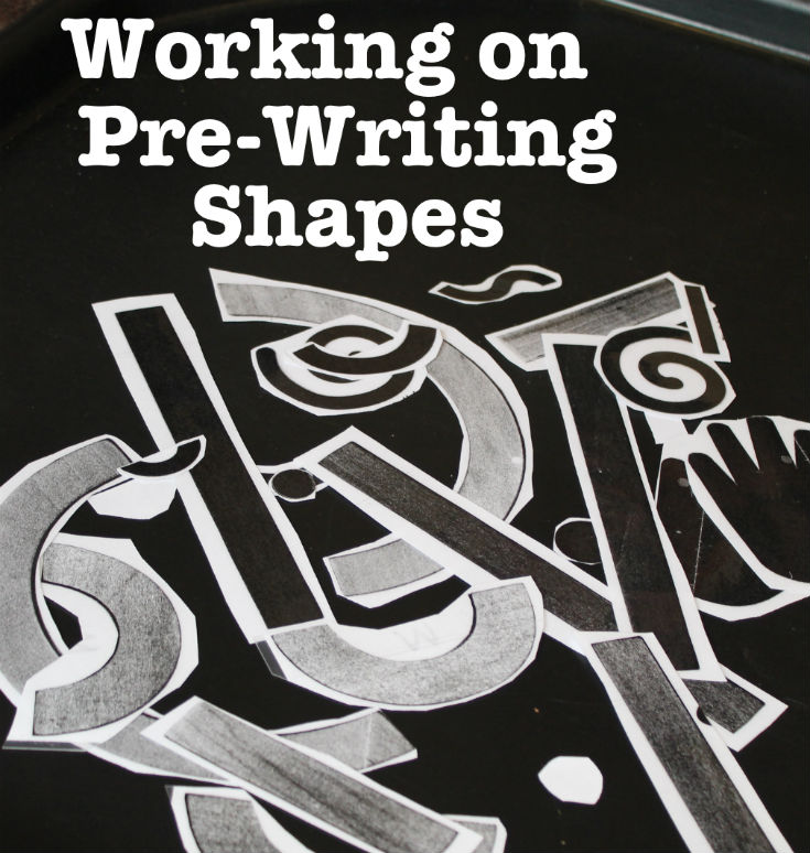 Fun ways to work on pre-writing skills, using the pre-writing shapes