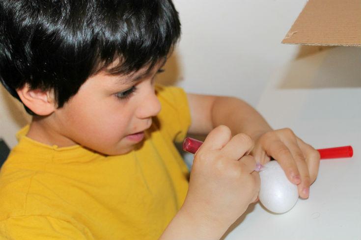 spring crafts for kids - easter egg craft