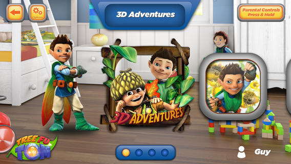 Tree Fu Tom 3D Adventures App with augmented reality