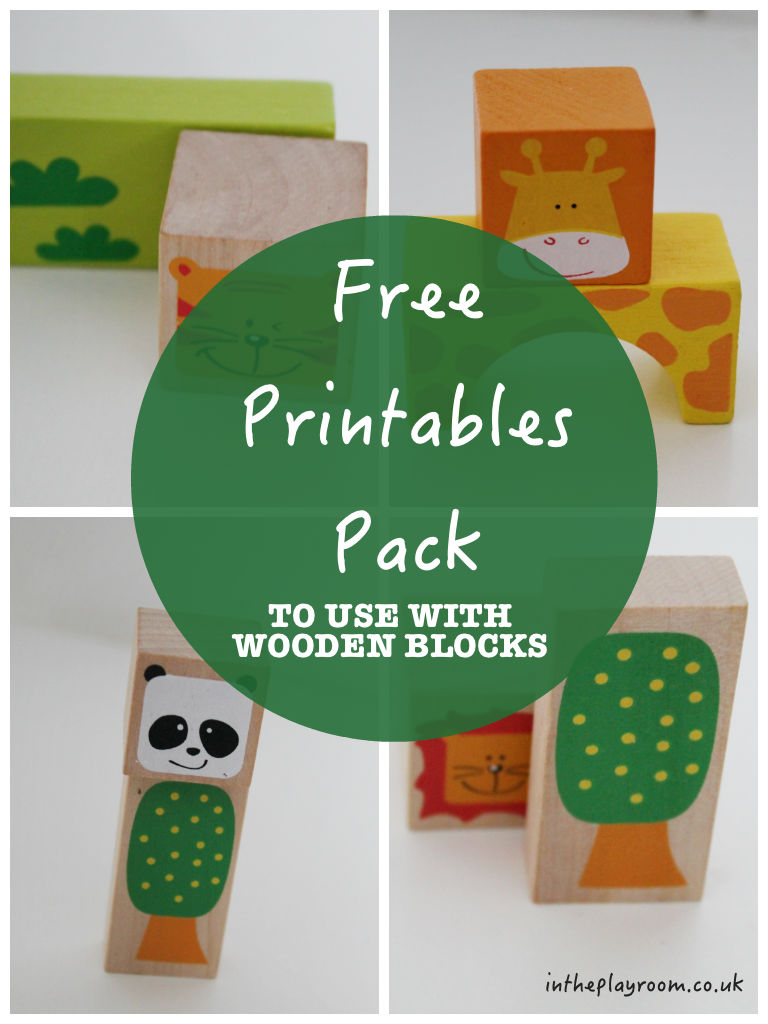 Free Printables for wooden building blocks activities