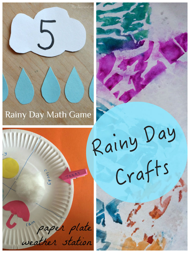 Rainy Day Crafts featured on Pintorials at In The Playroom