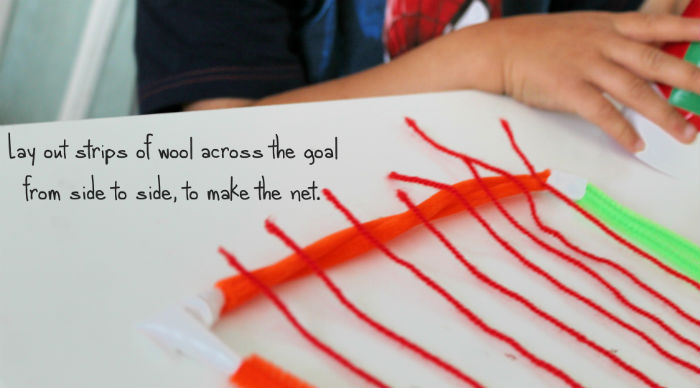 how to make a football goal craft