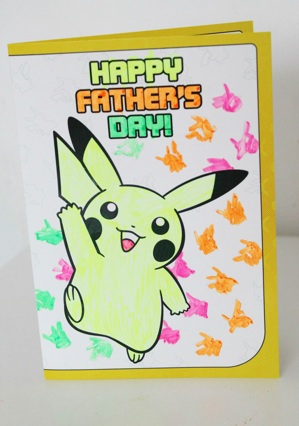 Pokemon fathers day card