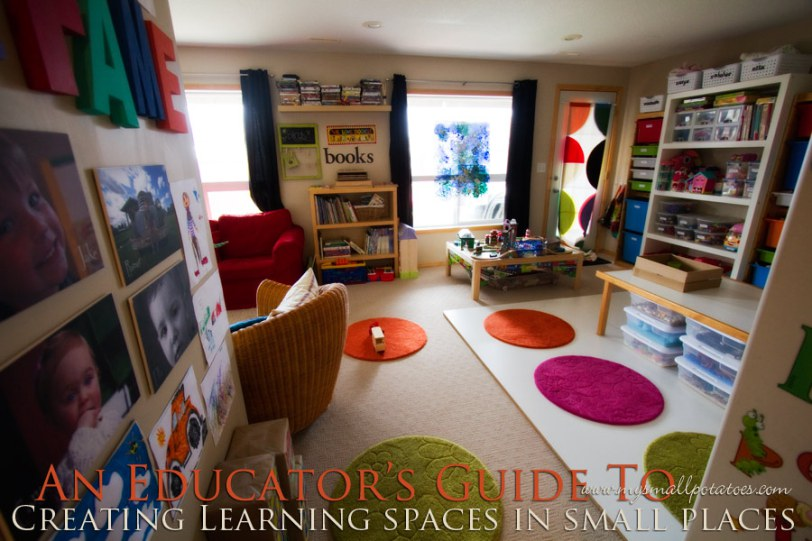 creating learning areas in small spaces