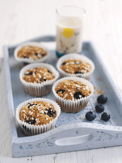 Oatly banana and blueberry muffins - Vegetarian and vegan friendly recipe