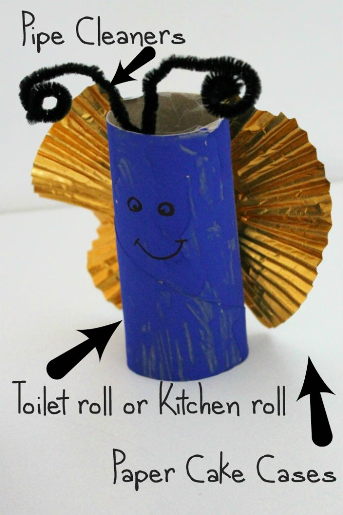 toilet roll butterfly craft