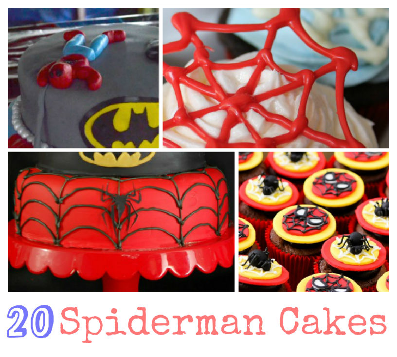 20 amazing spider-man cake ideas for all occasions, and spiderman themed parties