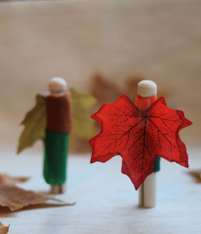 Autumn fairy peg dolls kids craft for fall - really easy to make!