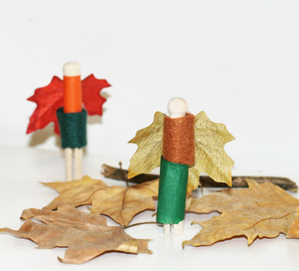 Autumn craft - fairy peg dolls