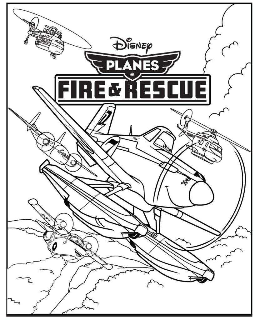 Disney Planes Coloring Pages : Disney planes printable activity sheets in the playroom