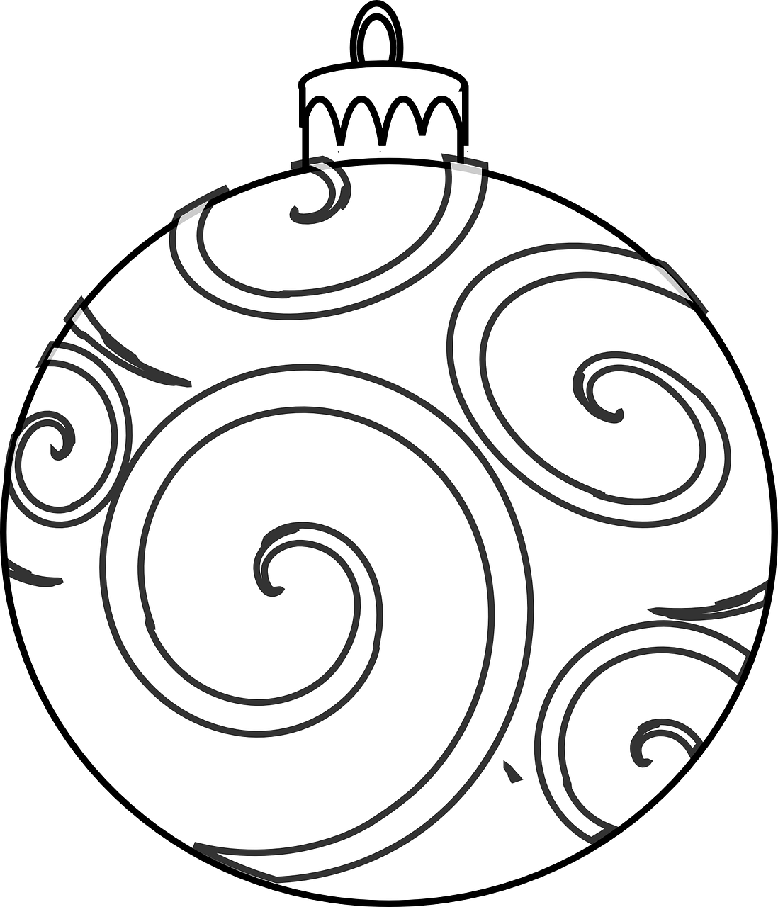Christmas Ornament Clip Art Black And White Colour And Design Your Own Christmas Ornaments Printables