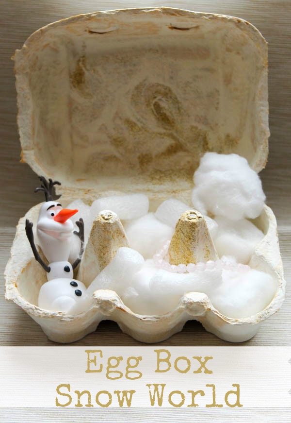 Frozen egg box snow world with Olaf