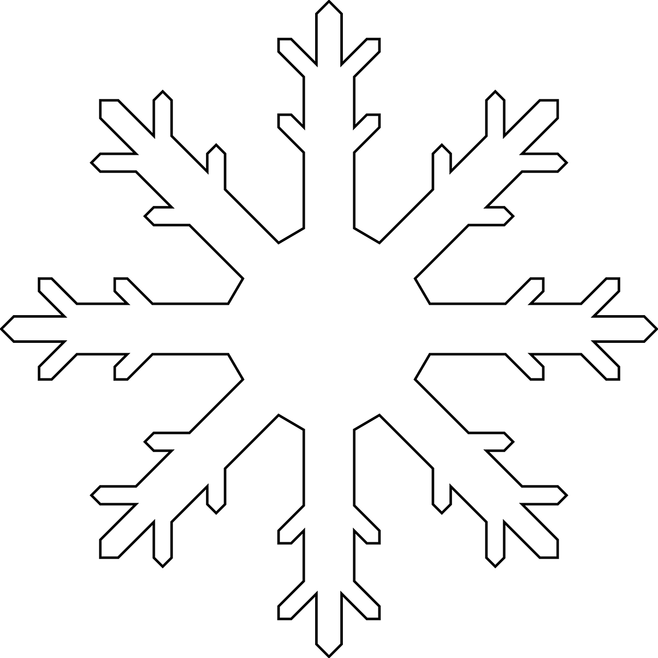 printable snowflake colouring sheet or snowflake template