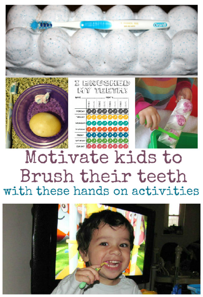 Fun hands on ways to teach children the importance of tooth brushing, so that they understand and feel motivated to brush their teeth. Such fun and interactive ways to learn this!