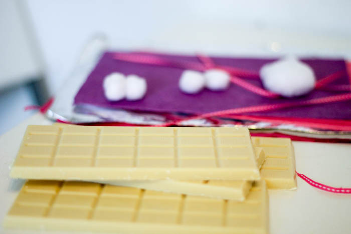 supplies for how to make personalised diy wrapped chocolate gifts