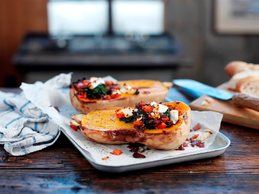 Spicy Stuffed Butternut Squash recipe