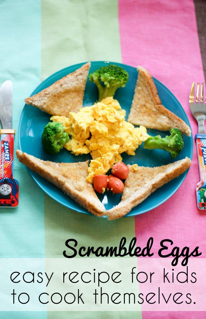 easy scrambled eggs recipe for kids to make