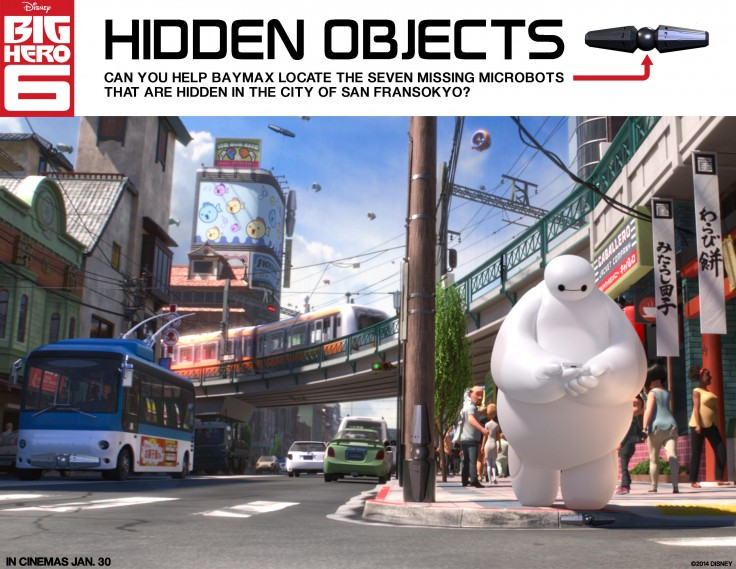 Big Hero 6 Hidden Objects activity page printable