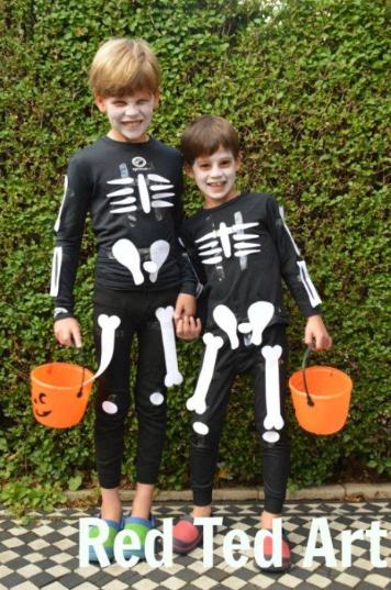 easy skeleton costumes