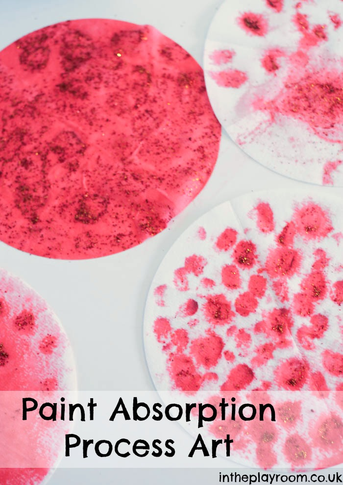 paint absorption process art in red and gold for Chinese New Year, so simple and fun