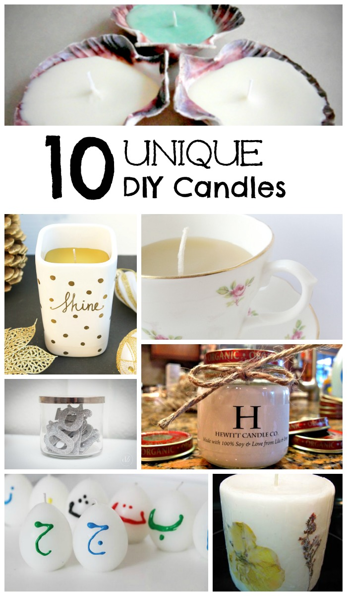 10 unique candles to make and give as gifts