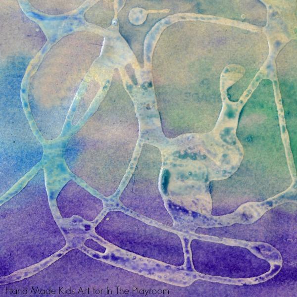 sandpaper and watercolor art
