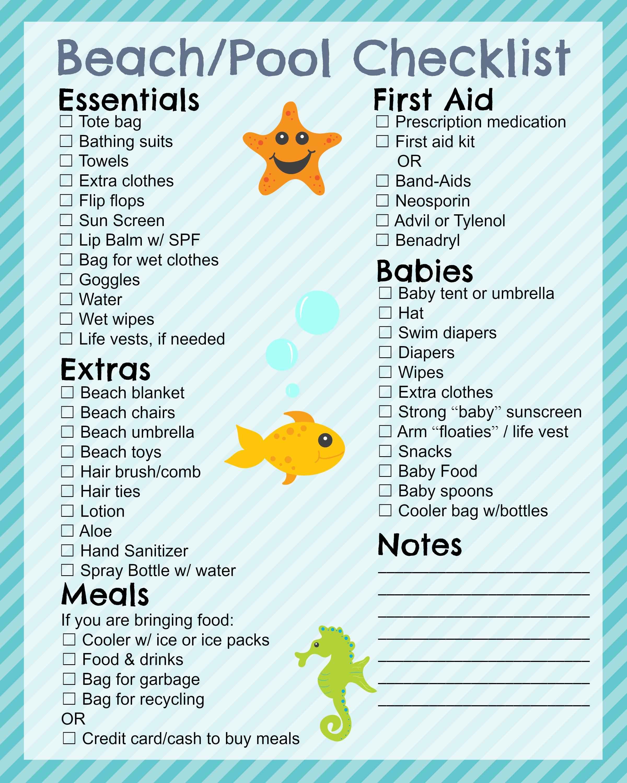traveling checklist pdf