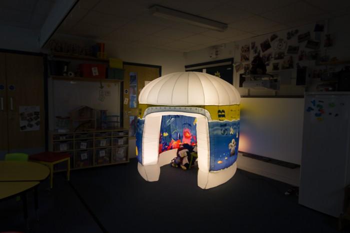 Pods sensory area at a special needs school