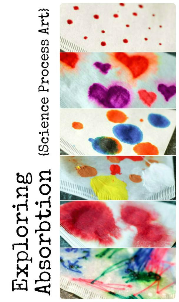 exploring absorption science process art activity for preschoolers