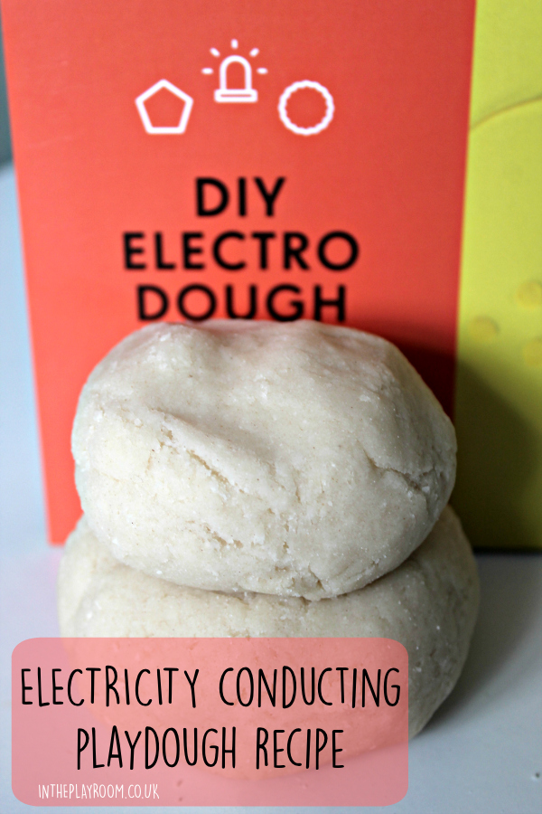 Simple electricity conducting playdough recipe. Make squishy circuits and experiment with electricity for a fun science experiment!