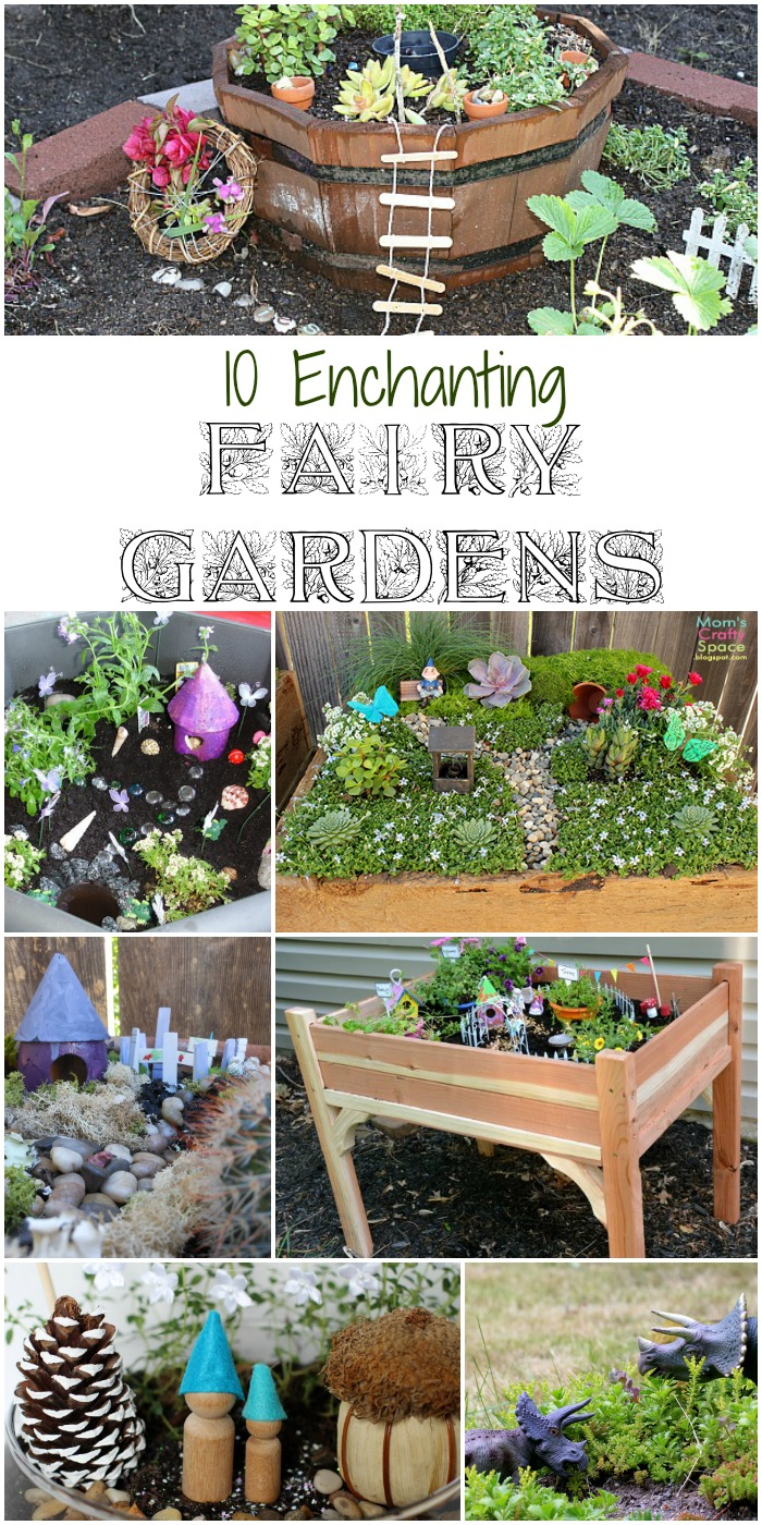 10 enchanting fairy gardens. These fairy garden ideas are giving me lots of inspiration to make our own fairy garden with the kids!