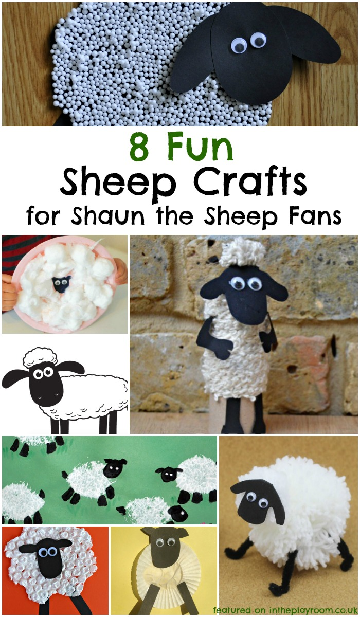 8 fun sheep crafts for fans of shaun the sheep