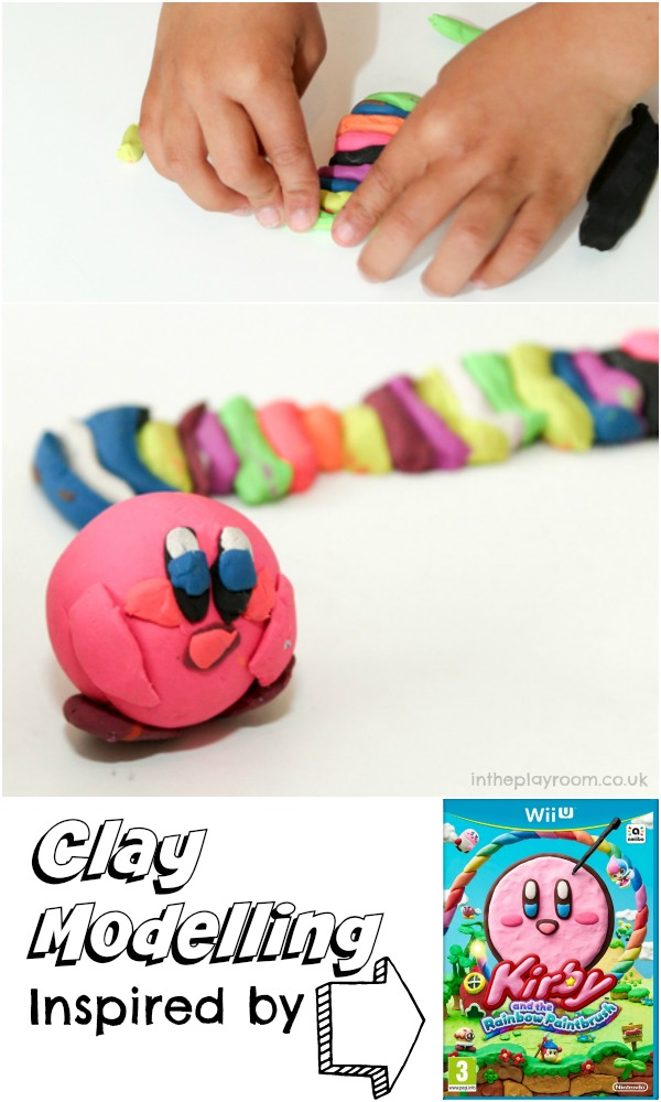 Clay modelling inspired by Kirby and the Rainbow paintbrush (aka Kirby and the Rainbow curse)