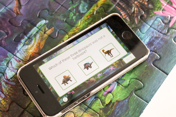 dinosaur puzzle with app