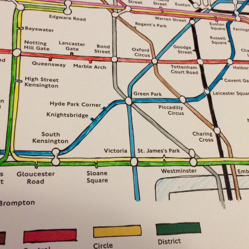 colouring london tube map