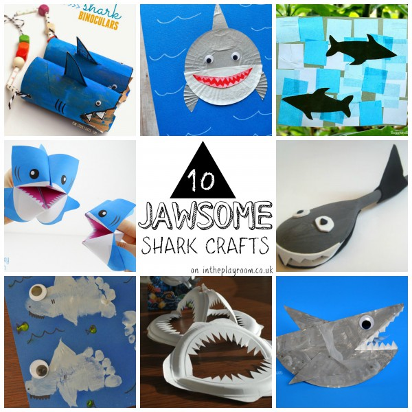 10 jawsome shark crafts. Lots of shark craft ideas for shark week