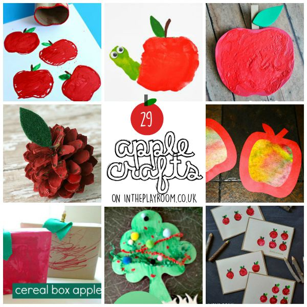 Adorable apple crafts for kids. Great for autumn fall season or back to school