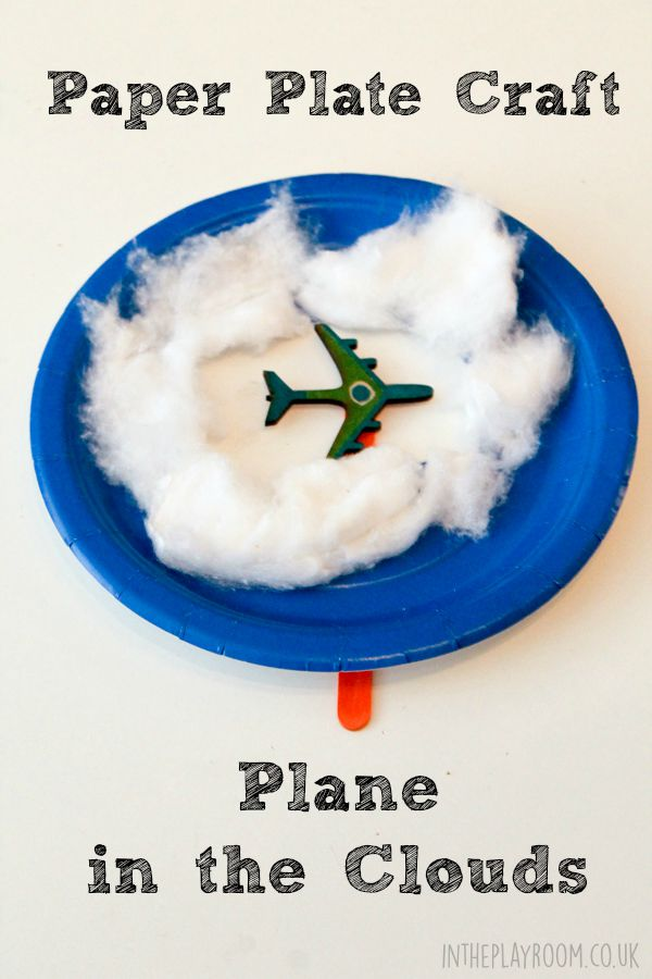 Baby Pen Play Paper Plate Plane In The Clouds In The Playroom