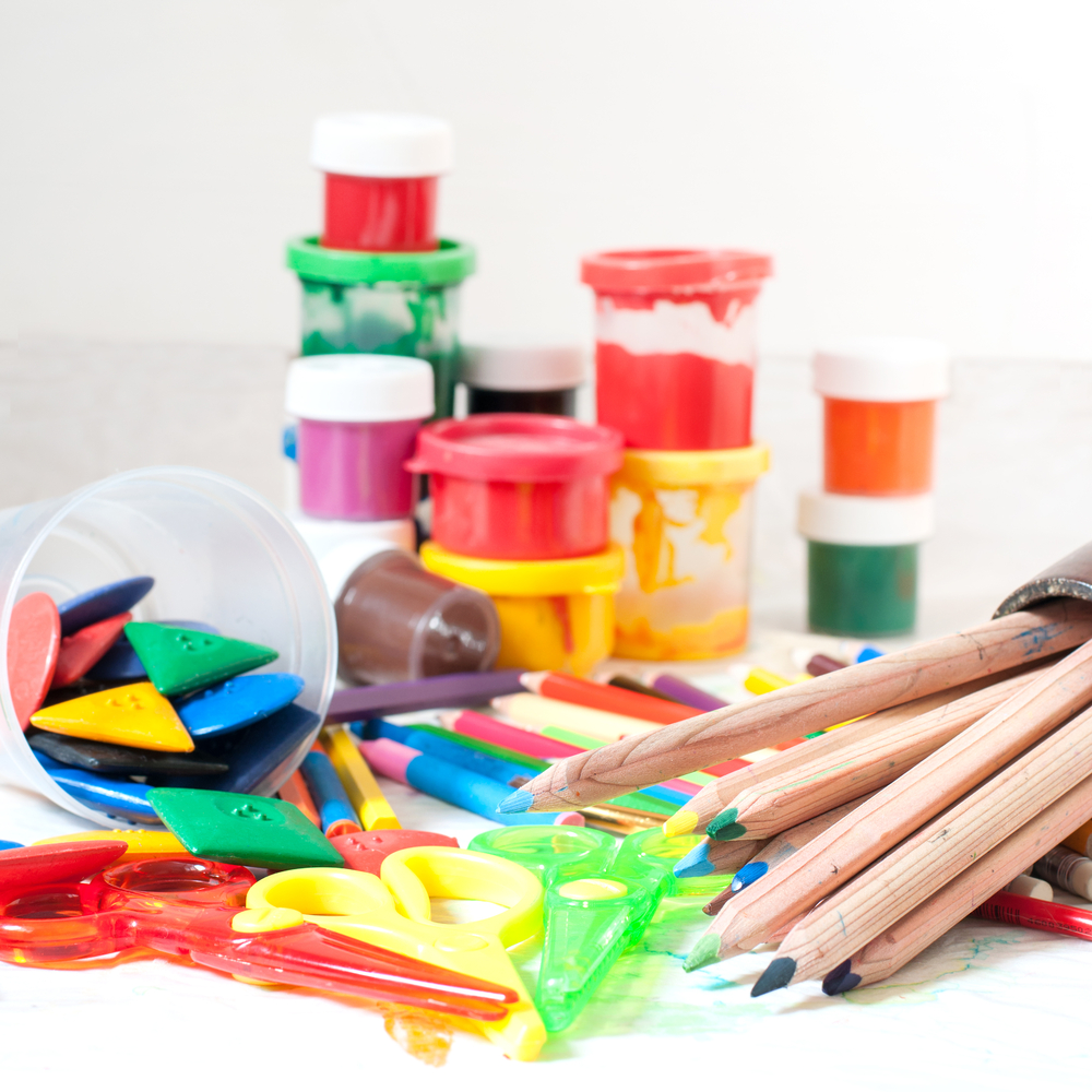 Arts and crafts materials for kids