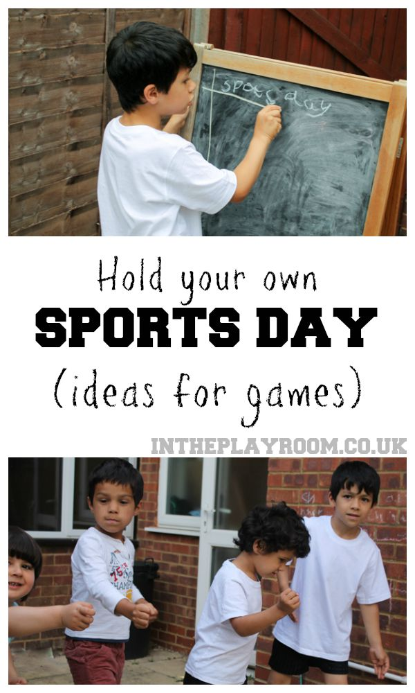 Lis of games and equipment ideas for holding your own sports day. Great idea to keep the kids active in summer