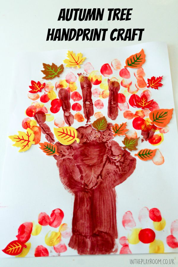 Autumn Tree Handprint Craft