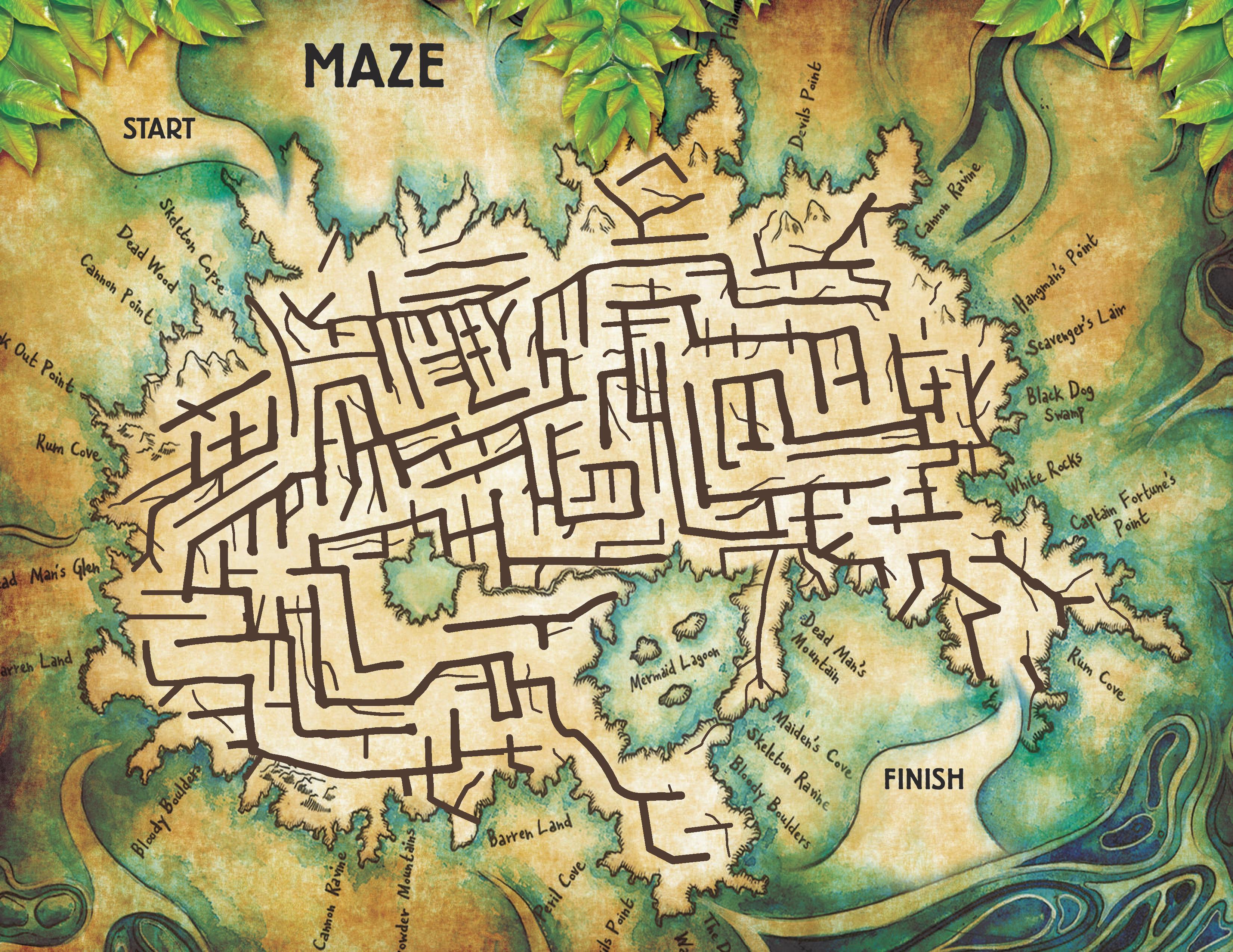Neverland maze free printable peter pan activity sheet